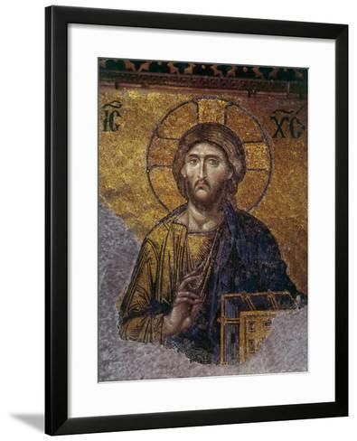 Head of Christ, Mosaic from Apse at Haghia Sophia Istanbul, 12th century AD--Framed Art Print