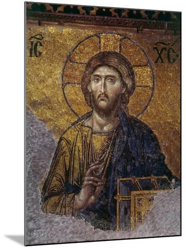Head of Christ, Mosaic from Apse at Haghia Sophia Istanbul, 12th century AD--Mounted Photographic Print