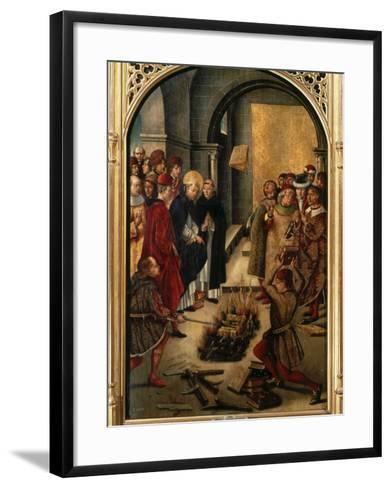Saint Dominic or Domingo Guzman of Castile, 1170-1221 Founded Dominican Order-Pedro Berruguete-Framed Art Print