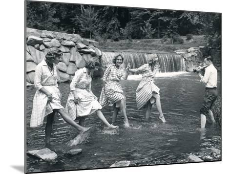Four Models Kicking Water, 1958--Mounted Photographic Print
