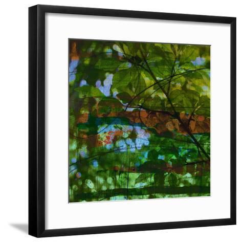 Abstract Leaf Study IV-Sisa Jasper-Framed Art Print