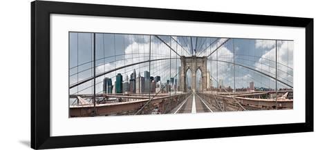 Brooklyn Bridge-Shelley Lake-Framed Art Print