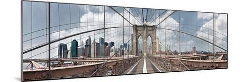Brooklyn Bridge-Shelley Lake-Mounted Photographic Print