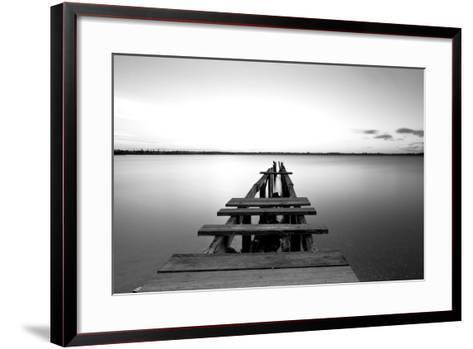 Old Pier--Framed Art Print