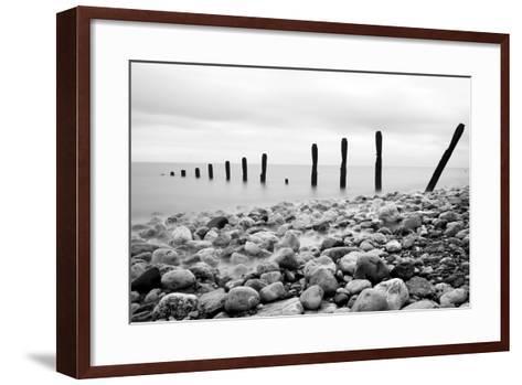 Beach Pebbles--Framed Art Print