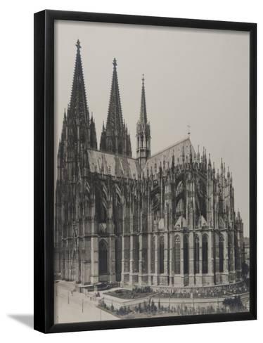 Cologne: Cathedral, 1889- Königlich Preubische Messbildanstalt-Framed Art Print