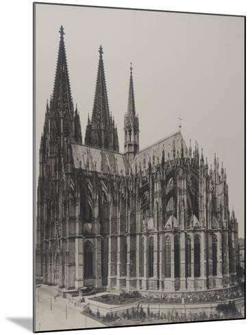 Cologne: Cathedral, 1889- Königlich Preubische Messbildanstalt-Mounted Photographic Print