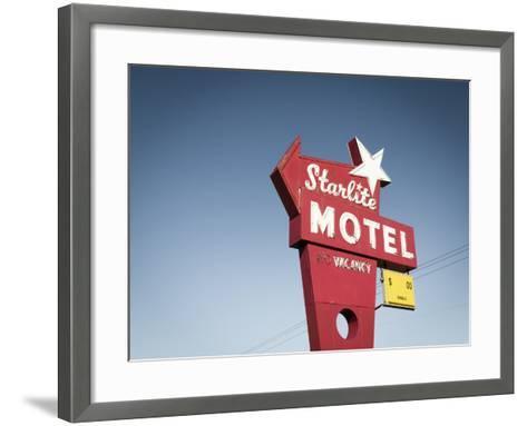 Vintage Motel VI-Recapturist-Framed Art Print