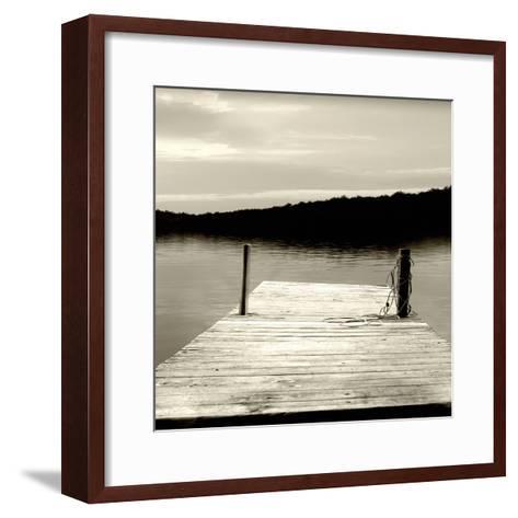 Twilight Dock III--Framed Art Print