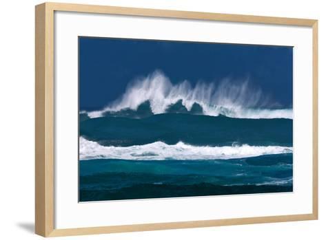 Rolling Waves-Dennis Frates-Framed Art Print