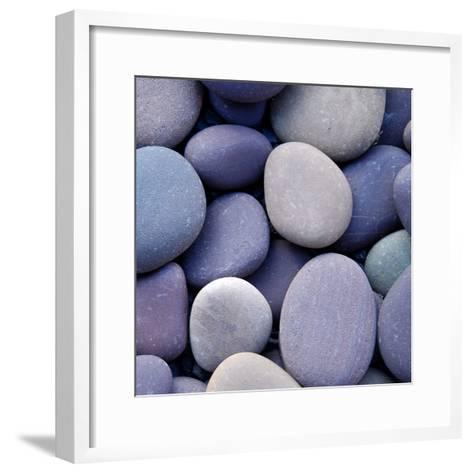 Purple Pebbles--Framed Art Print
