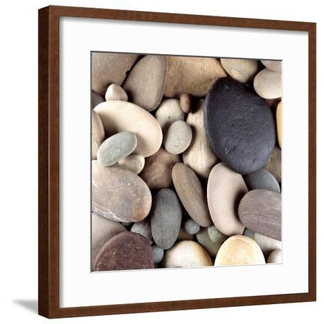 Brown Pebbles--Framed Art Print