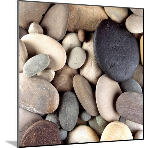 Brown Pebbles--Mounted Photographic Print
