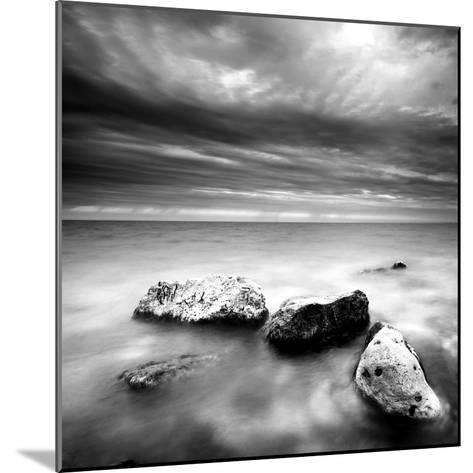 Rocks on Beach--Mounted Photographic Print
