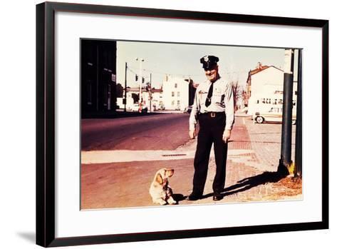 Suzie the Railroad Dog--Framed Art Print