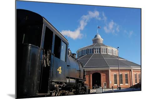 Outside the Historic Roundhouse--Mounted Photographic Print