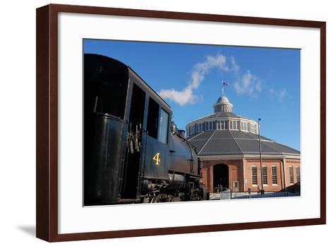 Outside the Historic Roundhouse--Framed Art Print