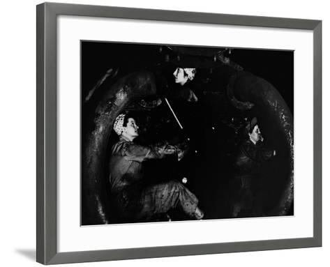Women of the Rails--Framed Art Print