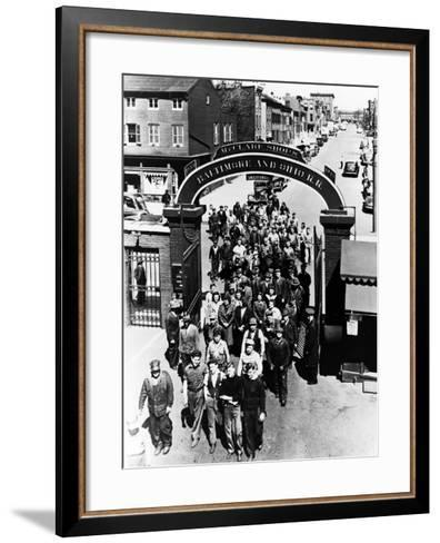 The Mount Clare Shops: the Main Gate--Framed Art Print