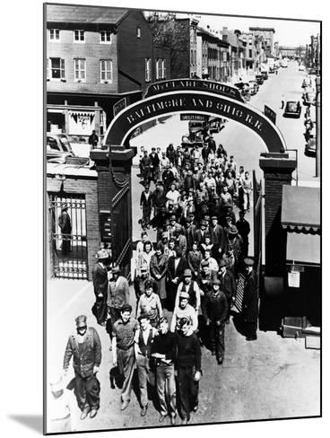 The Mount Clare Shops: the Main Gate--Mounted Photographic Print