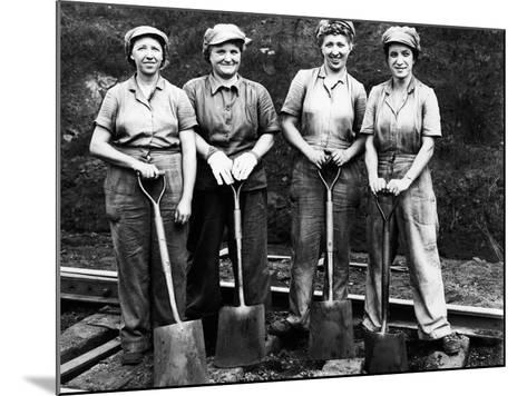 Women of the Rails: Track Work--Mounted Photographic Print