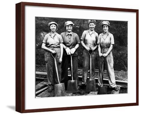 Women of the Rails: Track Work--Framed Art Print