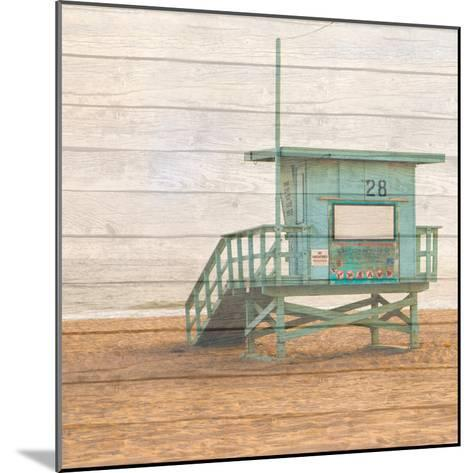 Lifeguard House on Wood-Susan Bryant-Mounted Photographic Print