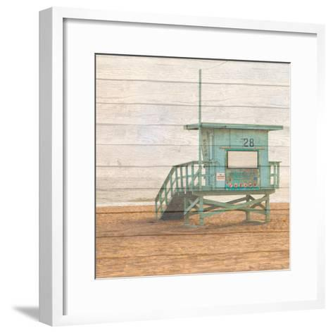 Lifeguard House on Wood-Susan Bryant-Framed Art Print