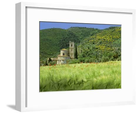 Abbey of Sant' Antimo, Near Montalcino, Tuscany. Exterior-Joe Cornish-Framed Art Print