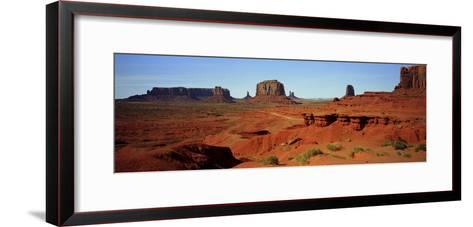 Monument Valley, Colorado Plateau, the Red Sandstone Buttes of the Valley, a National Park-Barry Herman-Framed Art Print