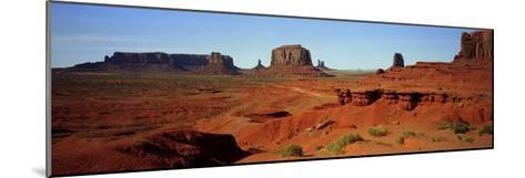 Monument Valley, Colorado Plateau, the Red Sandstone Buttes of the Valley, a National Park-Barry Herman-Mounted Photographic Print