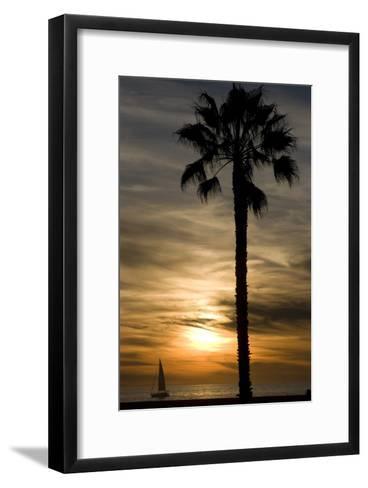 Sunset, Santa Monica Beach-Natalie Tepper-Framed Art Print