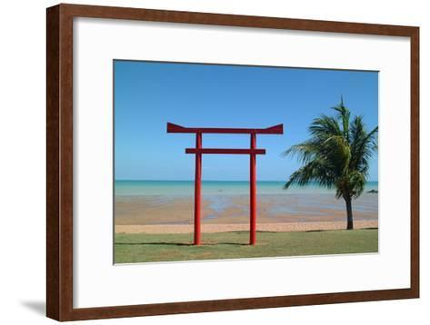 Tribute Memorial to the Pearl Fishermen Who Worked Here, Broome, Western Australia-Natalie Tepper-Framed Art Print