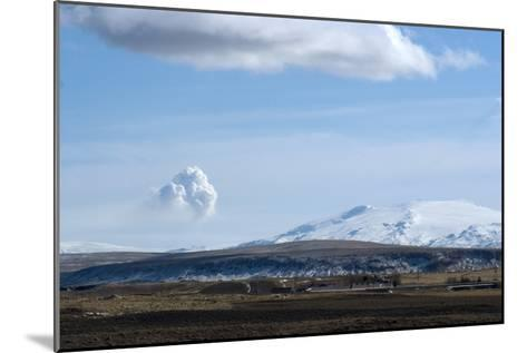 View of Plume from Eyjafjallajokull Volcano, Seen from Hotel Ranga, Hella, Southern Icelan-Natalie Tepper-Mounted Photographic Print