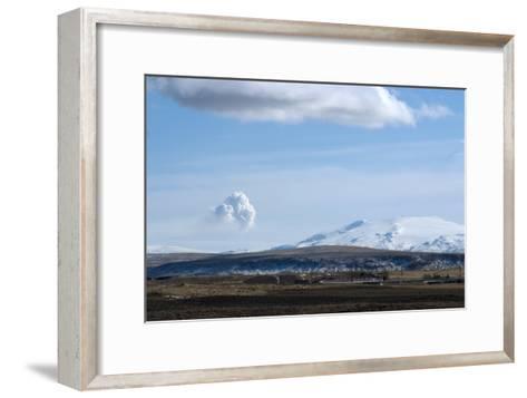 View of Plume from Eyjafjallajokull Volcano, Seen from Hotel Ranga, Hella, Southern Icelan-Natalie Tepper-Framed Art Print