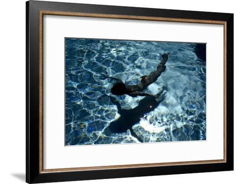 Blue Water 8433-Rica Belna-Framed Art Print