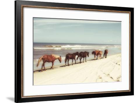 Horses on the Beach-Kathy Mansfield-Framed Art Print