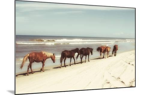 Horses on the Beach-Kathy Mansfield-Mounted Photographic Print