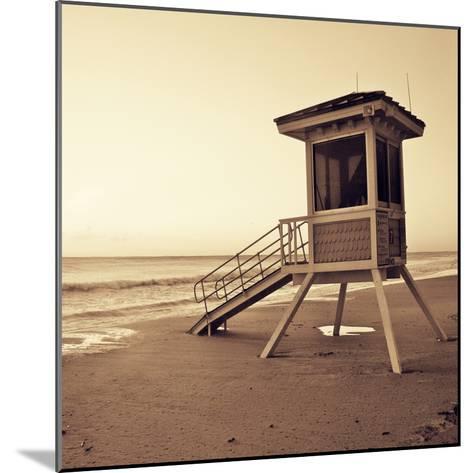 Sepia Life Guard Tower I-Jairo Rodriguez-Mounted Photographic Print