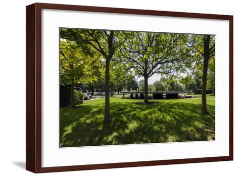 2012 Serpentine Gallery Pavilion. Serpentine Gallery in Kensington Gardens, London-David Cabrera-Framed Art Print