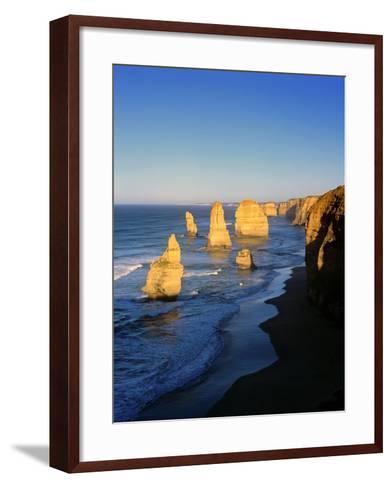 Victoria, Great Ocean Road, Sunrise on the Twelve Apostles-Marcel Malherbe-Framed Art Print