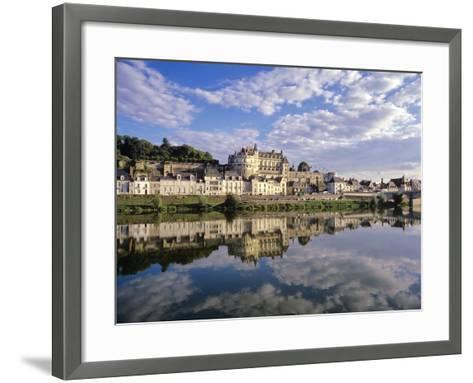 Indre-Et-Loire, Amboise, Castle and Town on the Loire River-Marcel Malherbe-Framed Art Print