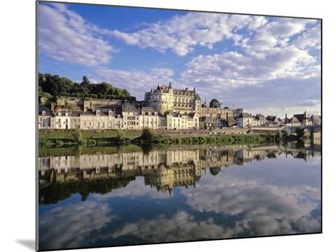 Indre-Et-Loire, Amboise, Castle and Town on the Loire River-Marcel Malherbe-Mounted Photographic Print