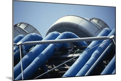 Centre Georges Pompidou, Beaubourg, Paris (1977)-David Churchill-Mounted Photographic Print