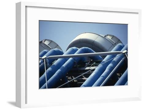 Centre Georges Pompidou, Beaubourg, Paris (1977)-David Churchill-Framed Art Print