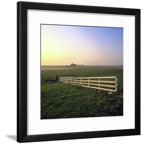 Friesland, Fence in a Field Near Workum-Marcel Malherbe-Framed Art Print