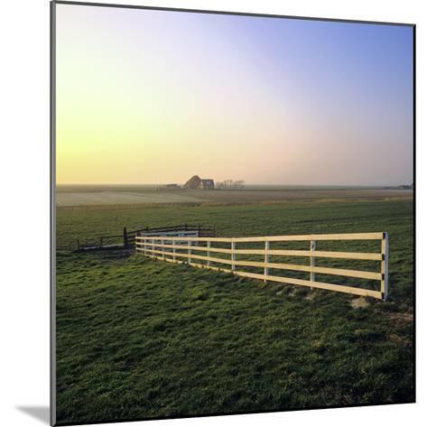Friesland, Fence in a Field Near Workum-Marcel Malherbe-Mounted Photographic Print