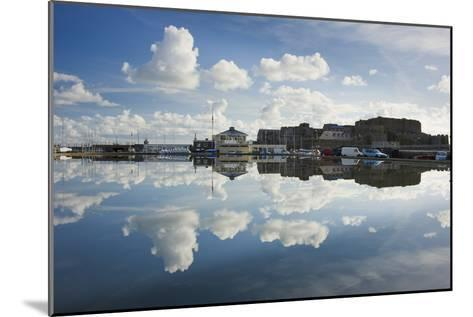 Guernsey Yacht Club and Castle Cornet in the Still Reflections of a Model Boat Pond, St Peter Port-David Clapp-Mounted Photographic Print