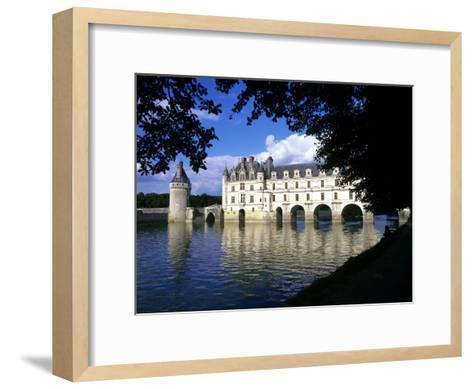 Chenonceau Castle, Loire, View of Chateau Through Trees-Marcel Malherbe-Framed Art Print