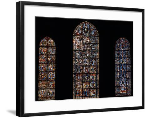 Stained Glass Window, Chartres Cathedral, France-Pol M.R. Maeyaert-Framed Art Print